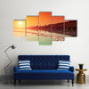 Sunrise over Dead Sea Multi Panel Canvas Wall Art