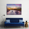 Kremlin And Moscow Rivers At The Sunset, Russia, Multi Panel Canvas Wall Art