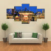 View Of A Garden Decorated For Christmas In Tivoli Garden, Scandivinia, Denmark, Multi Panel Canvas Wall Art