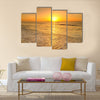 Beach and sea sunset in Thailand Multi panel canvas wall art