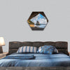 Cathedral Cove at sunrise, The Coromandel peninsula, hexagonal canvas wall art