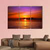 Beautiful sunset on the beach Multi panel canvas wall art