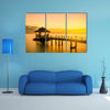 Summer Travel Vacation and Holiday concept with Wooden pier in Phuket Thailand Multi Panel Canvas Wall Art