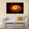 Abstract flaming twisted quasar black hole Multi Panel Canvas Wall Art
