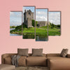 View of the Dunguaire Castle, Kinvara Bay  multi panel canvas wall art