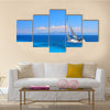 Sailing yacht in the Ionian Sea Greece Multi Panel Canvas Wall Art