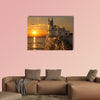 Swallow's Nest castle on the rock over the multi panel canvas wall art