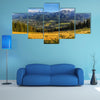 A view of The Tatra Mountains and Zakopane in summer, Poland multi panel canvas wall art