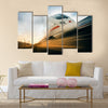 Fast moving train Multi panel canvas wall art