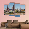 Cathedral of Mainz at the Rhine River, Germany multi panel canvas wall art