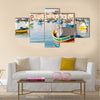Mediterranean traditional fisherman village in the south east of Marsaxlokk, Multi Panel Canvas Wall Art