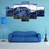 The View of the sea of clouds from the Rigi Kulm in winter, Lucerne, Switzerland Multi Panel Canvas Wall Art