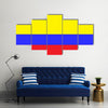 Flag of Colombia Multi panel canvas wall art