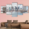 View of Brooklyn Bridge and Manhattan skyline New York wall art