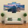 A Night View Of A Beautiful Place Called Rio De Janeiro, Brazil, Multi Panel Canvas Wall Art