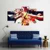 Clinking Glasses with Alcohol and toasting, Party Multi Canvas Print Wall Art