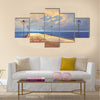 Bridge to the sea against beautiful sky Multi Panel Canvas Wall Art