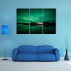 Aurora Borealis (Northern Lights) in Iceland multi panel canvas wall art
