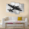 World War II era heavy bomber on a mission Multi Panel Canvas Wall Art
