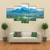 Sri Lankan landscape - view form Sigiriya rock, Sri Lanka Multi Panel Canvas Wall Art