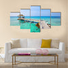 Beautiful paradise tropical beach Multi panel canvas wall art