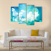 Abstract watercolor illustration of cloud. Watercolor painting on paper Multi panel canvas wall art