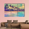 Paradise nature, sea and hotel house on the tropical beach wall art