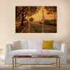 vintage style picture of Paris at dusk Multi panel canvas wall art