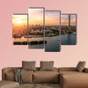 Sunset Bangkok Chao Phraya River and Rama8 Bridge wall art