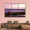 Songhua River ship building clouds sunset multi panel canvas wall art