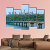 Paton Bridge over the river Dnieper in Kiev, Ukraine wall art