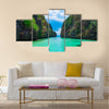 Boat trip in blue lagoon, Palawan, Philippines multi panel canvas wall art