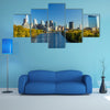 Downtown Skyline of Philadelphia, Pennsylvania multi panel canvas wall art