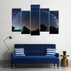 Beautiful Panoramic Milky Way Scenery Multi Panel Canvas Wall Art