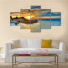 Sunset over Corfu Island, Greece Multi Panel Canvas Wall Art