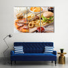 Fast food and unhealthy eating concept fast food snacks Multi panel canvas wall art