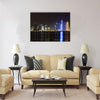 Doha, Qatar. Night skyline Multi panel canvas wall art