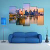 Singapore skyline at the Marina during twilight multi panel canvas wall art