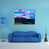 Fitz Roy mountain and El Chalten Village in the morning Multi panel canvas wall art