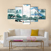 Chinese landscape watercolor painting Multi Panel Canvas Wall Art