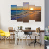 Sunrise Over The Pacific Ocean At The Beach Of The Lanikai, Hawaii, Multi Panel Canvas Wall Art