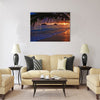 Pacific sunrise at Lanikai beach, Hawaii Multi Panel Canvas Wall Art