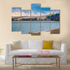 Parnidis dune in winter, Neringa, Lithuania Multi panel canvas wall art