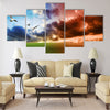 Global Warming concept Multi Panel Canvas Wall Art
