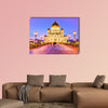 Cathedral of Christ the Saviour in Moscow at dusk Multi panel canvas wall art