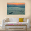 The South China Sea With Sunset, Multi Panel Canvas Wall Art