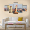 View of the Rotterdam skyline on the Wilhelminapier Multi panel canvas wall art