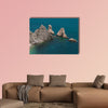 Panoramic view of the Two Sister (Due Sorelle) bay multi panel canvas wall art