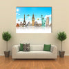 Famous monuments of the world grouped together Multi panel canvas wall art