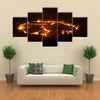 eruption of volcano Erta Ale, Ethiopia multi panel canvas wall art
